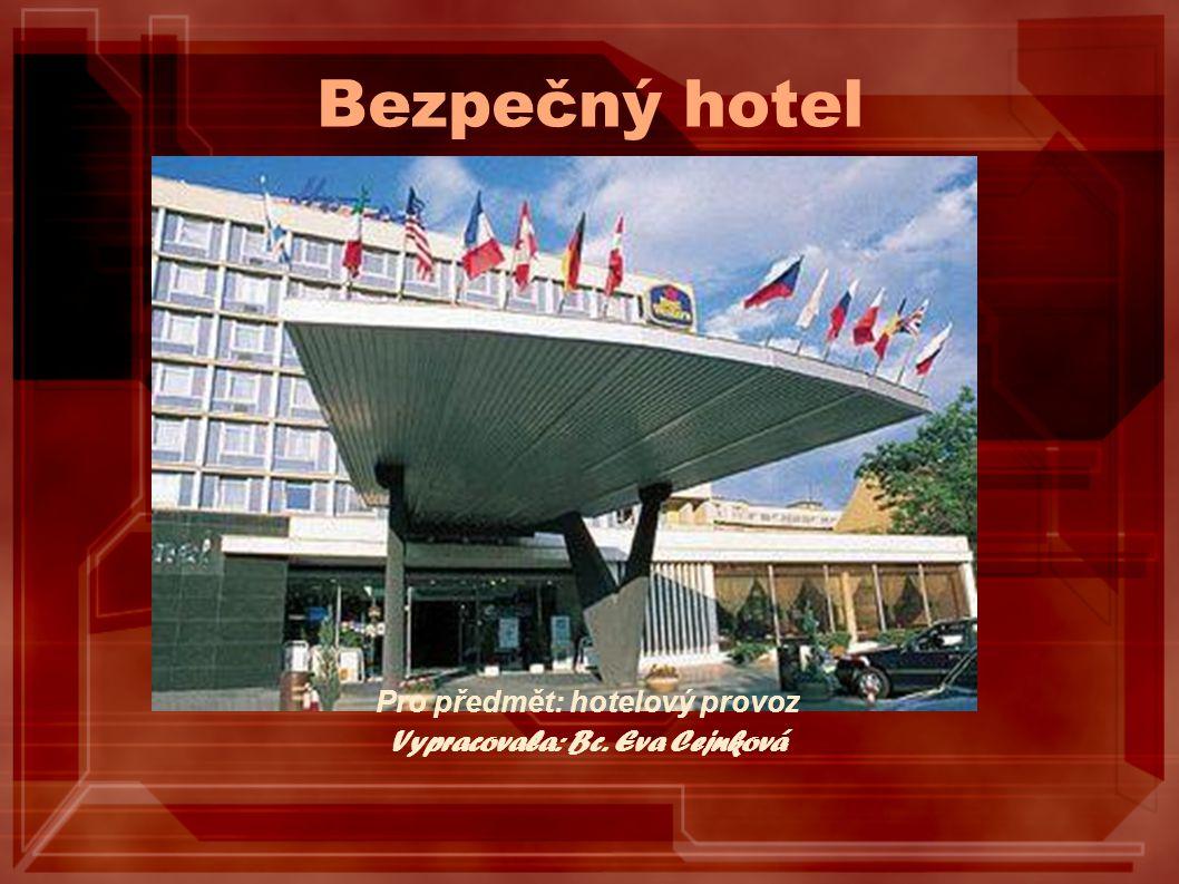 Bezpečný hotel Pro předmět: hotelový provoz Vypracovala: Bc. Eva Cejnková