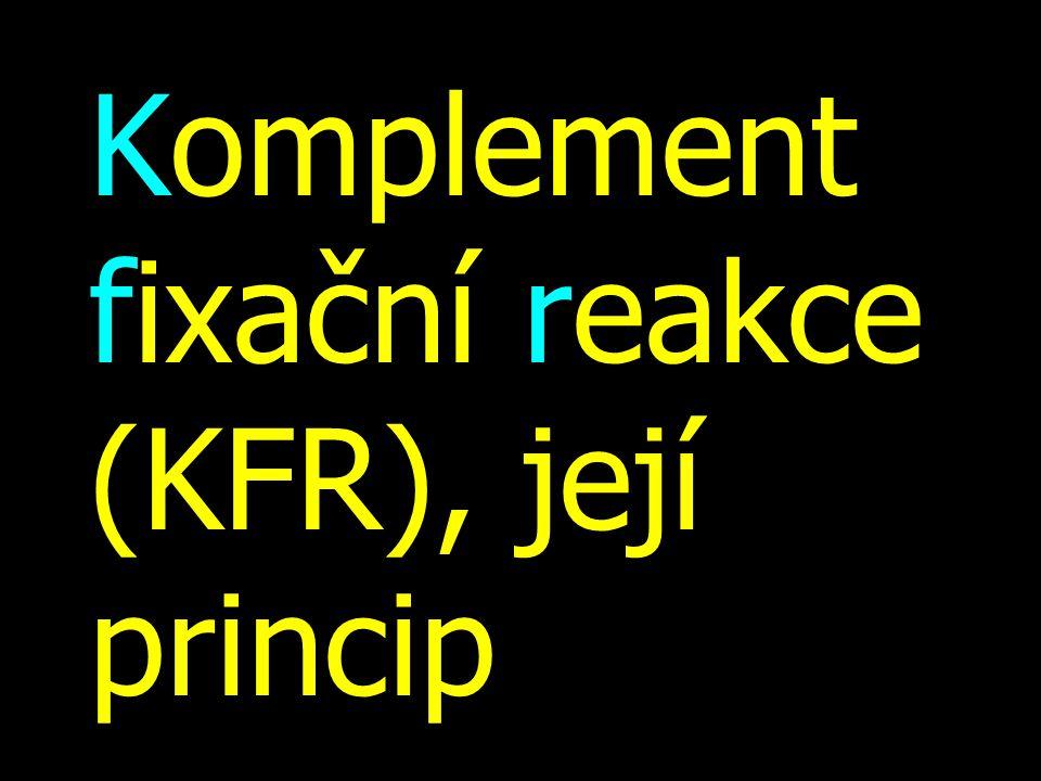 Komplement fixační reakce (KFR), její princip
