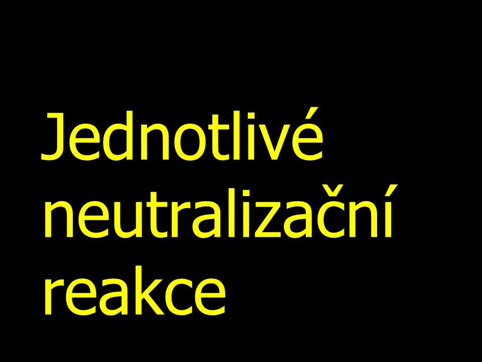Jednotlivé neutralizační reakce