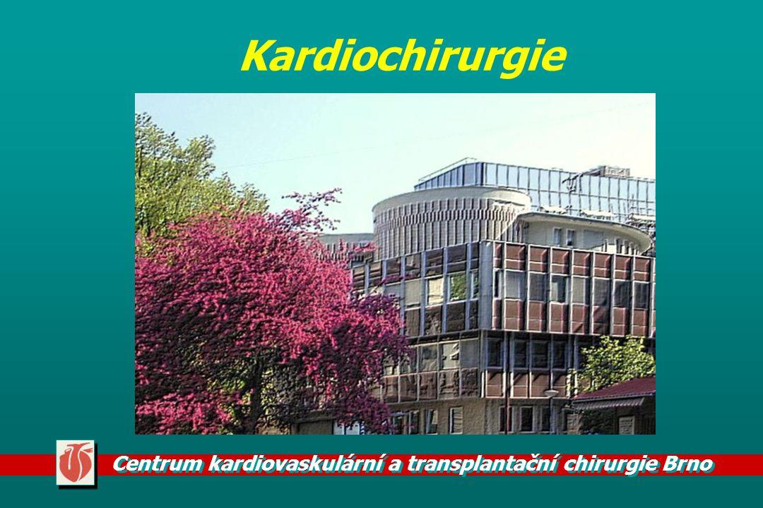 Centrum kardiovaskulární a transplantační chirurgie Brno Historie kardiochirurgie v ČR 1947 - Bedrna - podvaz DAP 1947 - Rapant - S-P spojka u F4 1951 - Bedrna - Mi komisurolýza na ZS 1956 - Navrátil - uzávěr DSS na otevřeném srdci H+IO 1958 - Navrátil - první operace v ECC 1965 - první MVR a AVR