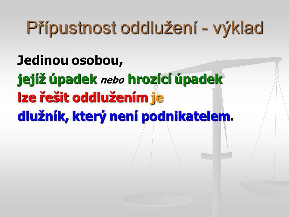 Návrh na povolení oddlužení – koncentrace, účinky § 390 (1) Návrh na povolení oddlužení musí dlužník podat spolu s insolvenčním návrhem.