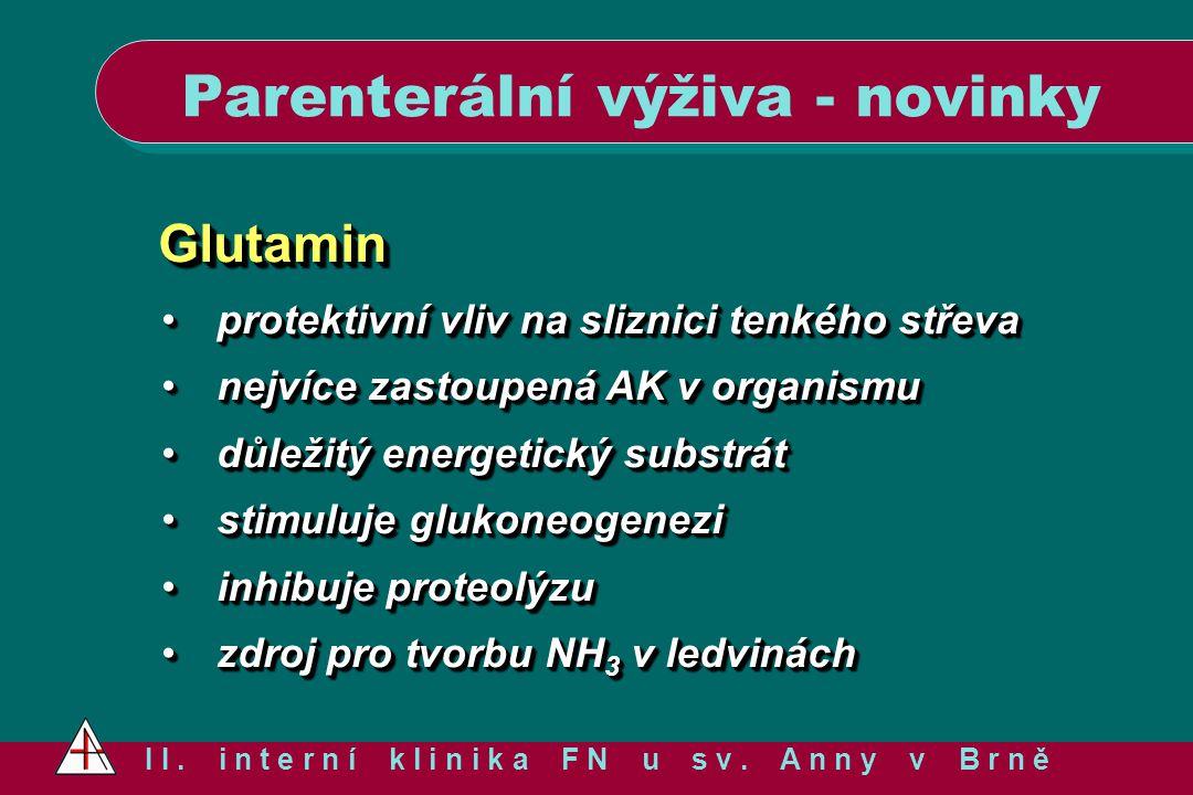 GlutaminGlutamin protektivní vliv na sliznici tenkého střevaprotektivní vliv na sliznici tenkého střeva nejvíce zastoupená AK v organismunejvíce zasto