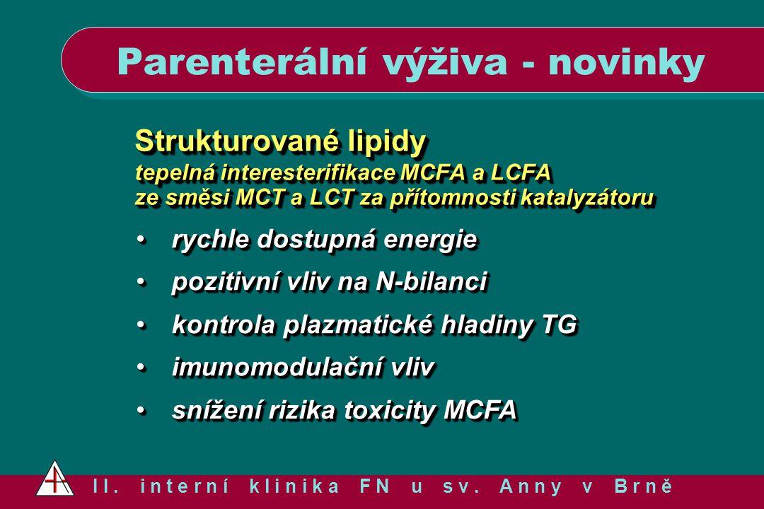 Strukturované lipidy tepelná interesterifikace MCFA a LCFA ze směsi MCT a LCT za přítomnosti katalyzátoru Strukturované lipidy tepelná interesterifika