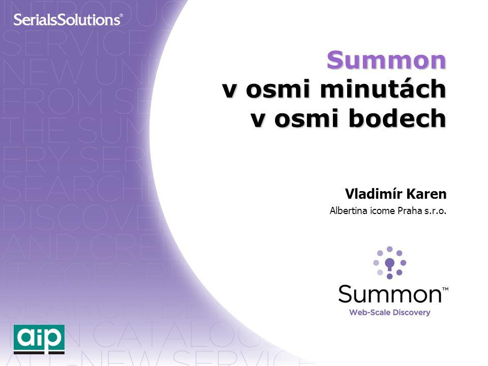 Summon v osmi minutách v osmi bodech Vladimír Karen Albertina icome Praha s.r.o.