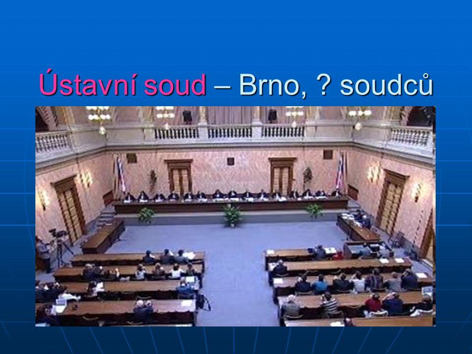 Ústavní soud – Brno, ? soudců