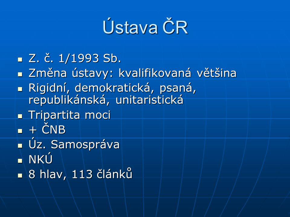 Ústava ČR Z.č. 1/1993 Sb. Z. č. 1/1993 Sb.