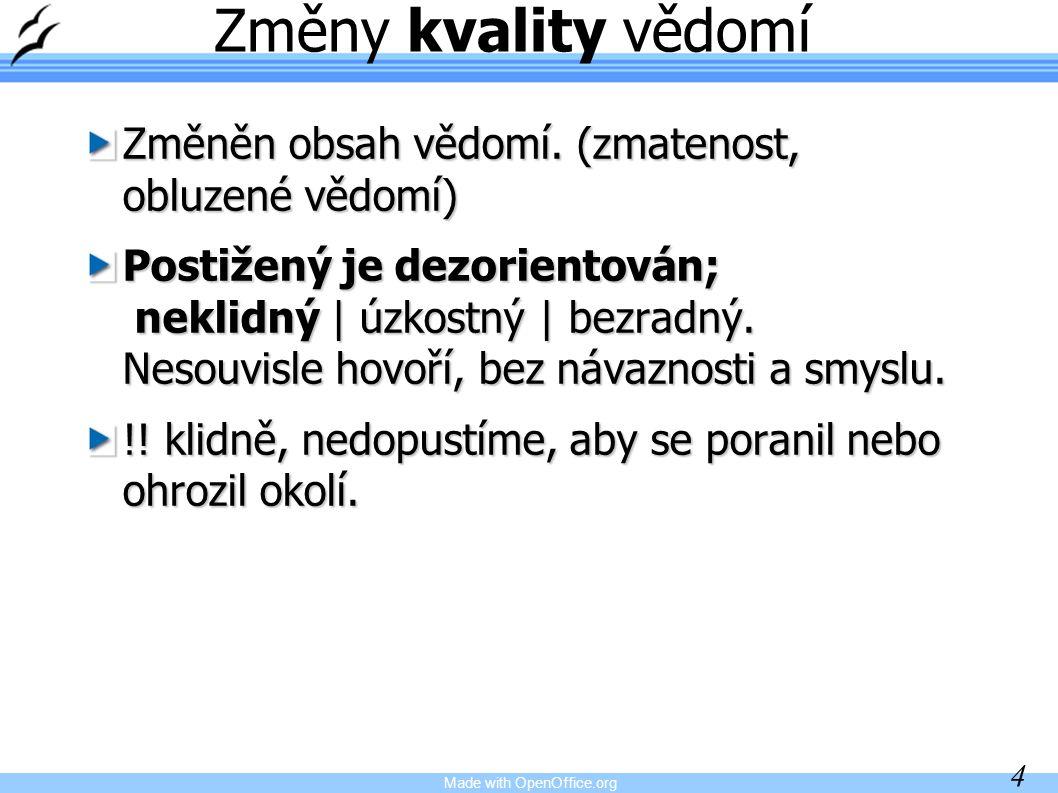 Made with OpenOffice.org 15 Příznaky meningitidy: