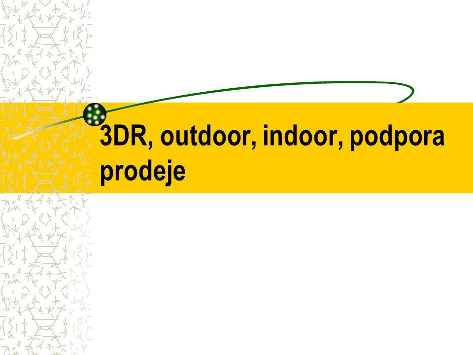 3DR, outdoor, indoor, podpora prodeje
