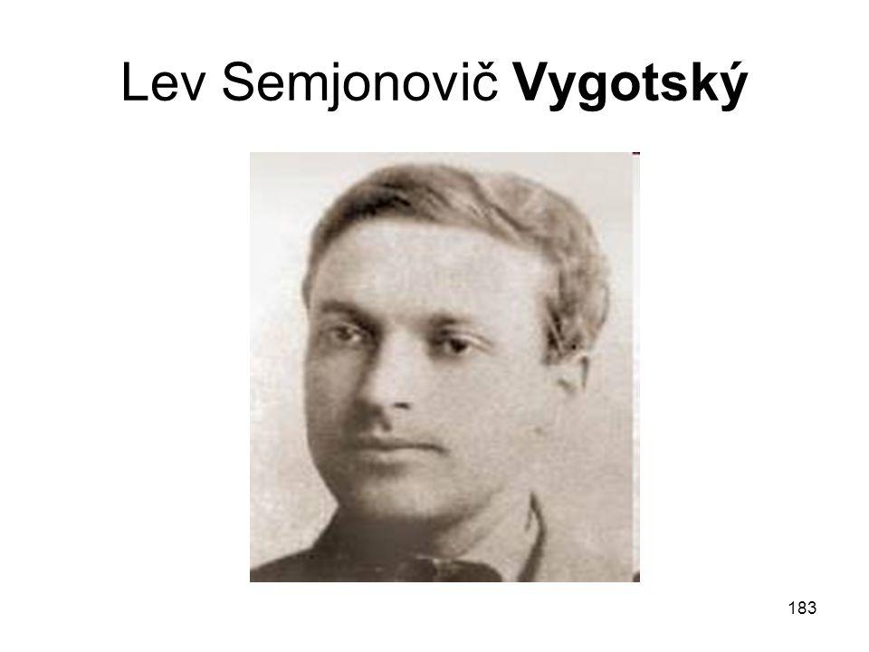 183 Lev Semjonovič Vygotský