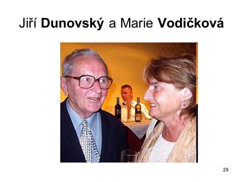 29 Jiří Dunovský a Marie Vodičková