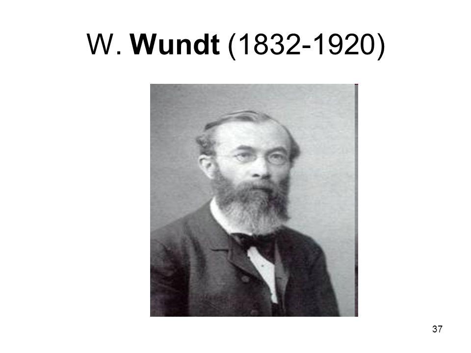 37 W. Wundt (1832-1920)