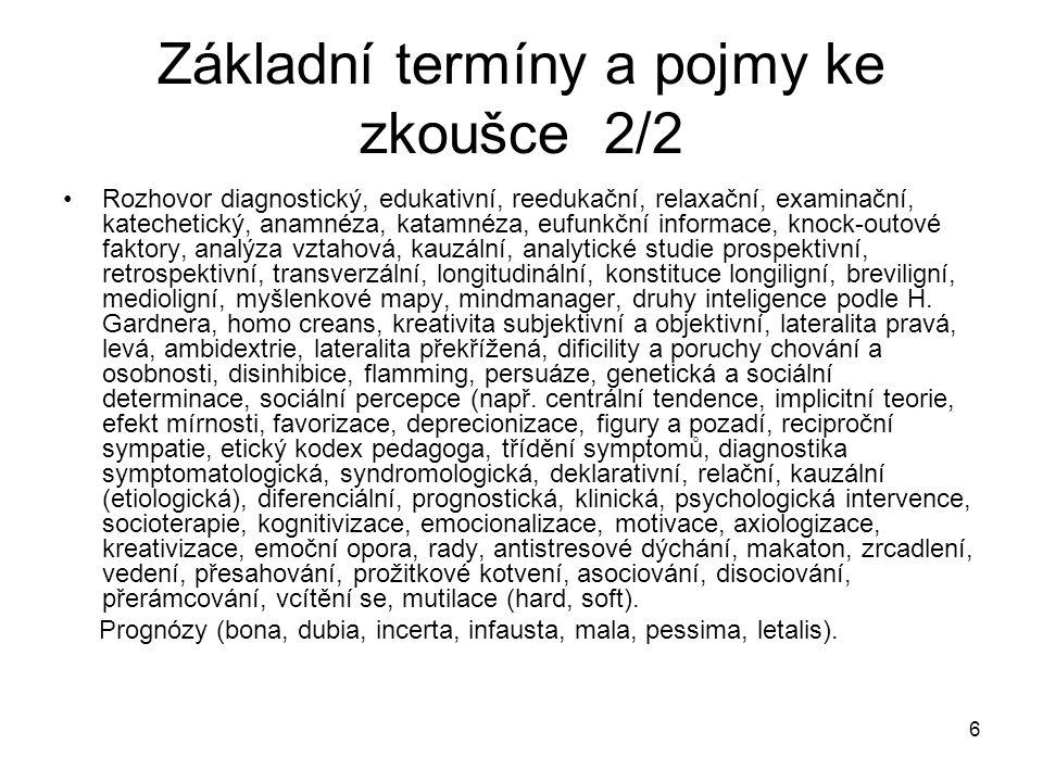 237 Stacionární péče Komplexní celodenní nebo i celotýdenní péče.