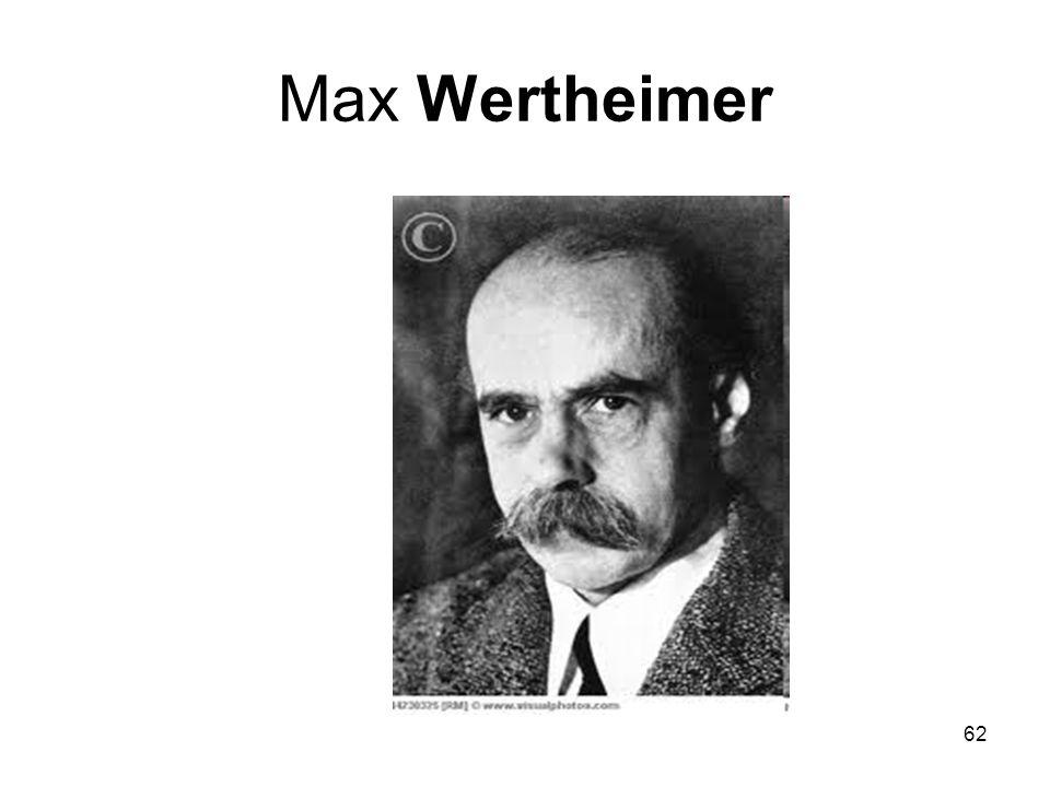 62 Max Wertheimer