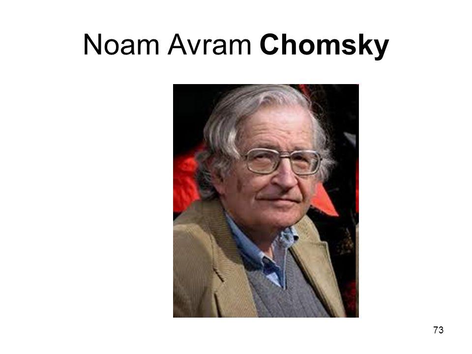 73 Noam Avram Chomsky