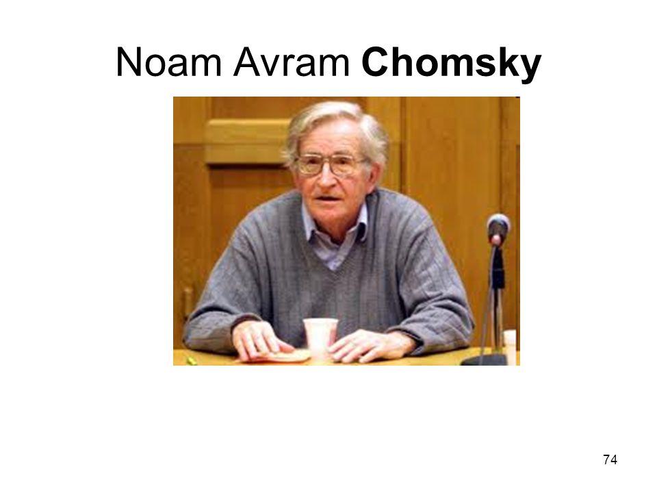 74 Noam Avram Chomsky