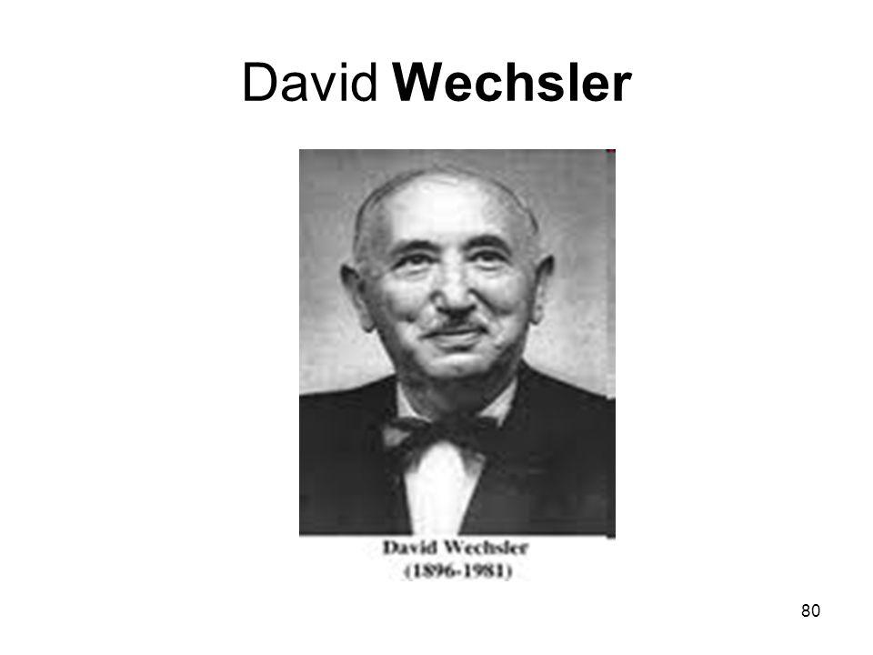 80 David Wechsler