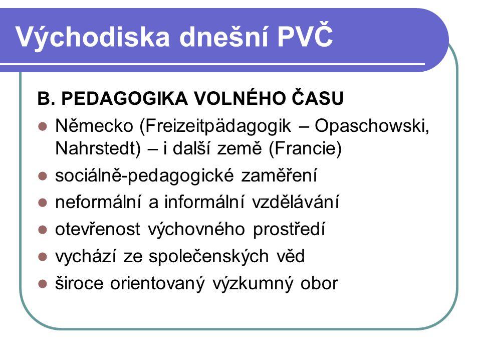 Východiska rozvoje PVČ (Kaplánek) 1.
