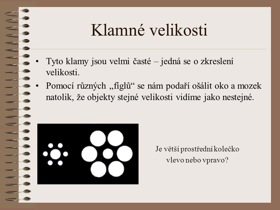 Co je optický klam ? Optický klam neboli optická iluze je matoucí nebo nesprávné vnímání reality Oko snímá nějaký obraz, ale mozek jej interpretuje ji