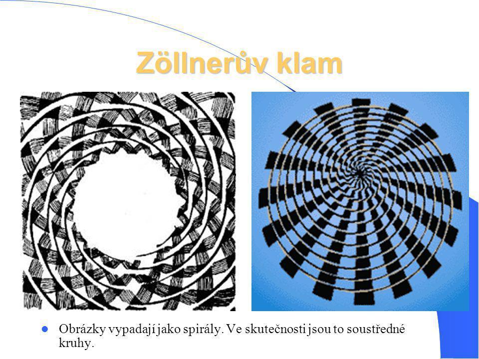 Obrázky vypadají jako spirály. Ve skutečnosti jsou to soustředné kruhy.