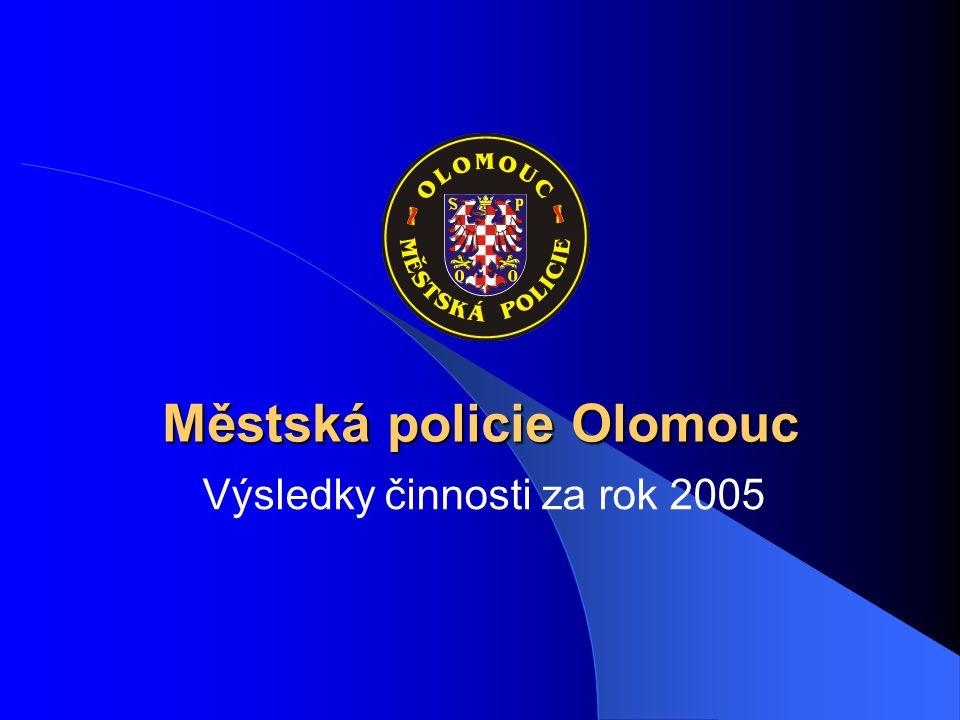 Městská policie Olomouc Výsledky činnosti za rok 2005
