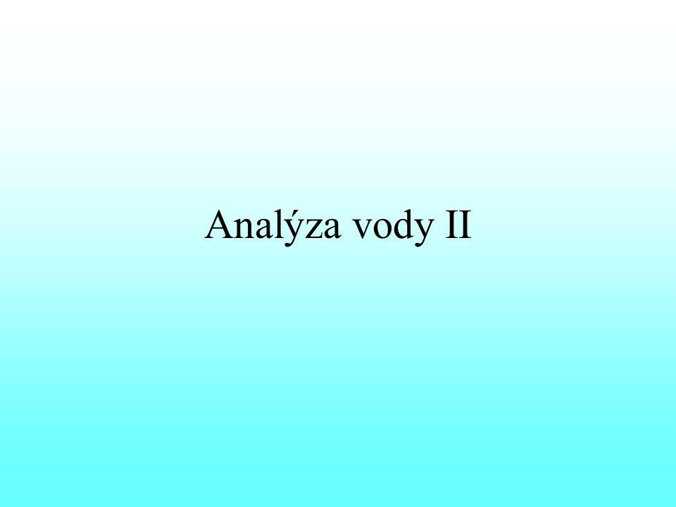 Analýza vody II