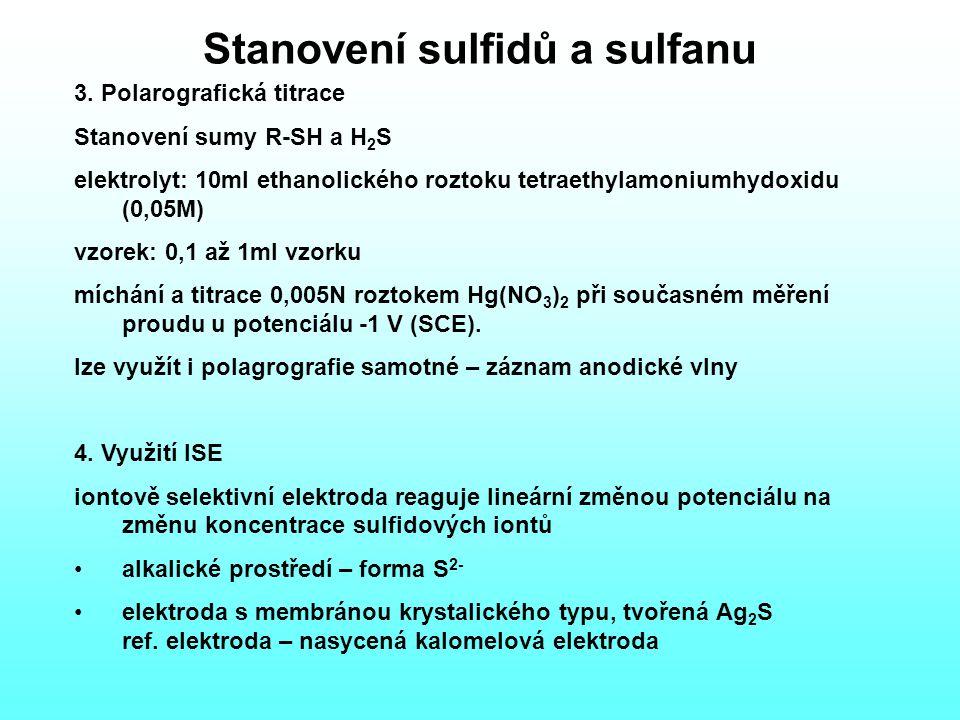 Stanovení sulfidů a sulfanu 3.