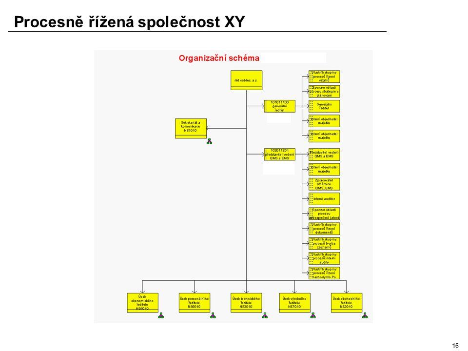 15 Procesně řížená společnost XY