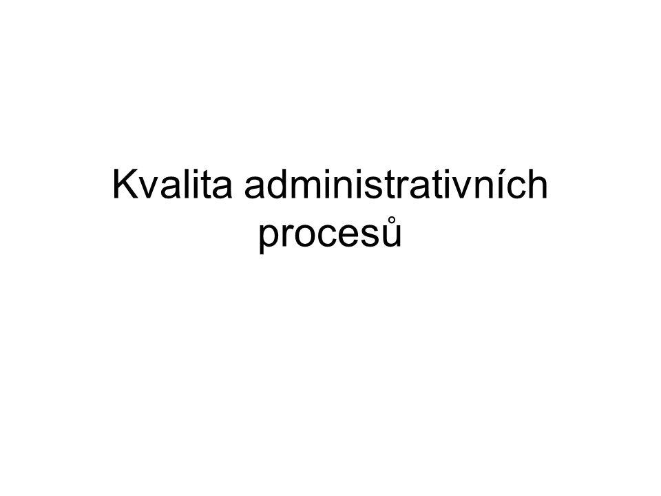 Kvalita administrativních procesů