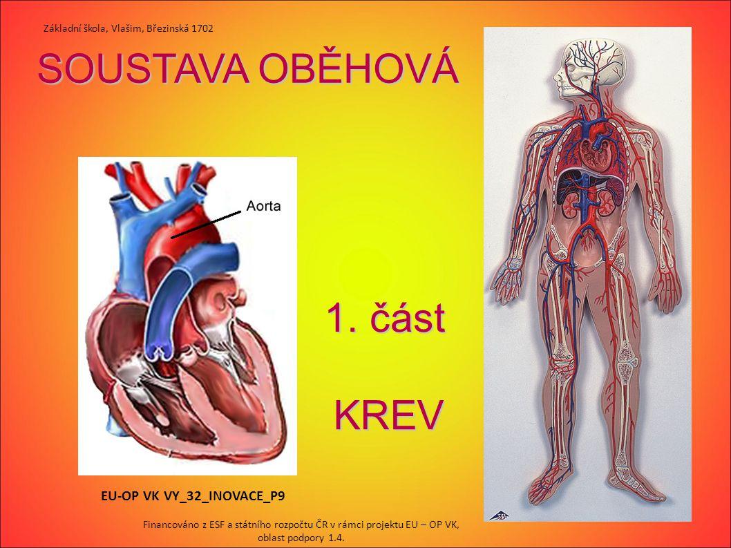 SOUSTAVA OBĚHOVÁ 1. část 1. část KREV EU-OP VK VY_32_INOVACE_P9 Základní škola, Vlašim, Březinská 1702 Financováno z ESF a státního rozpočtu ČR v rámc