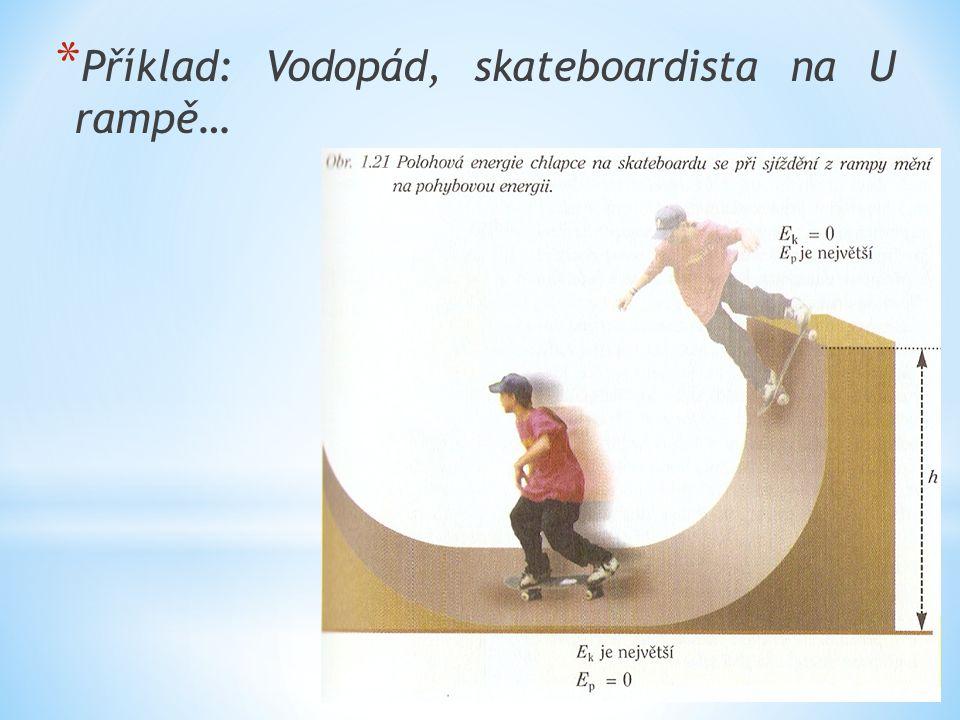 * Příklad: Vodopád, skateboardista na U rampě…