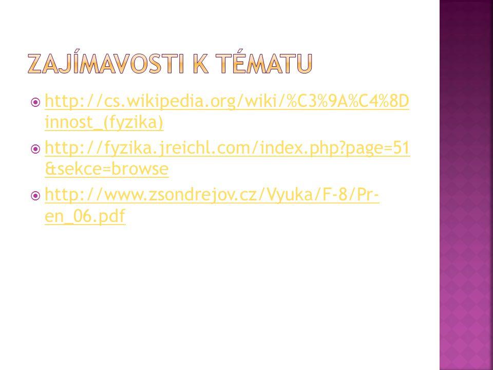  http://cs.wikipedia.org/wiki/%C3%9A%C4%8D innost_(fyzika) http://cs.wikipedia.org/wiki/%C3%9A%C4%8D innost_(fyzika)  http://fyzika.jreichl.com/inde