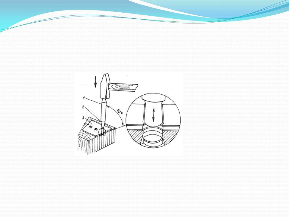 Nástroje pro probíjení a vysekávání: a) průbojníky b) výsečníky Průbojníky jsou podobné sekáčům, ale mají ostří ve tvaru vysekaného otvoru.