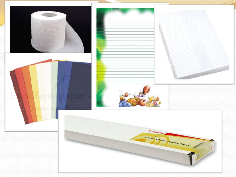 Výroba vláken-celulóza Materiál na výrobu papíru je nejprve převeden do celulózy, koncentrované směsi vláken rozptýlených v kapalině.