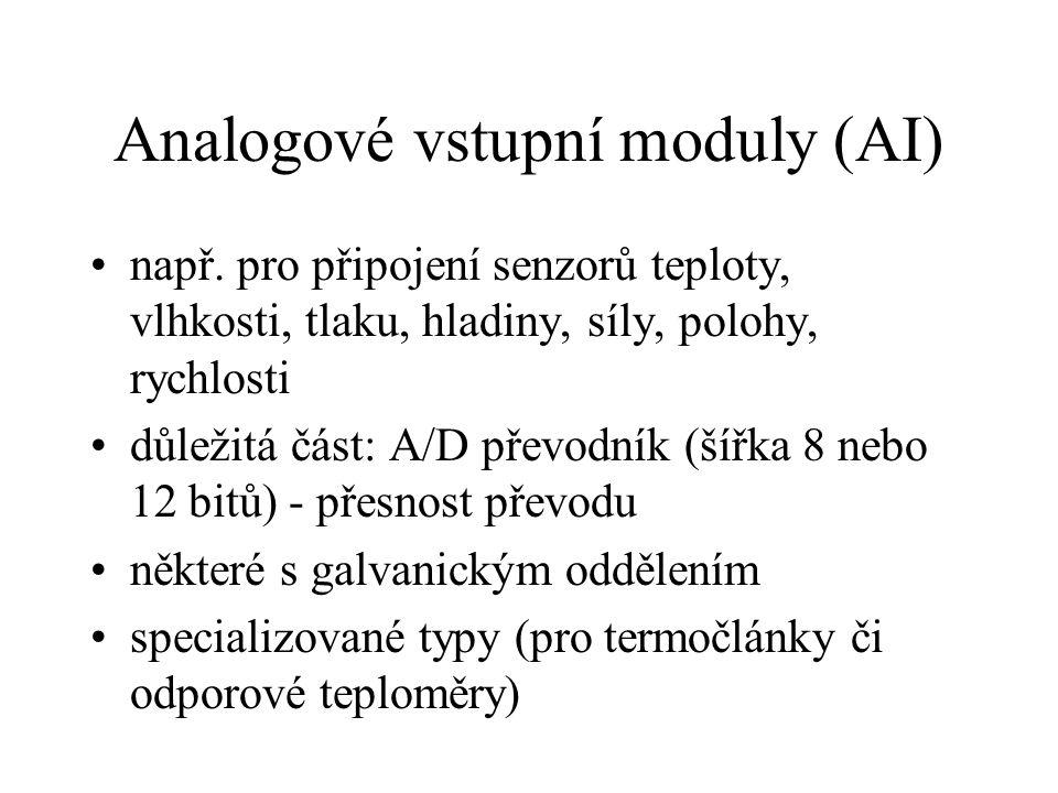 Analogové vstupní moduly (AI) např.