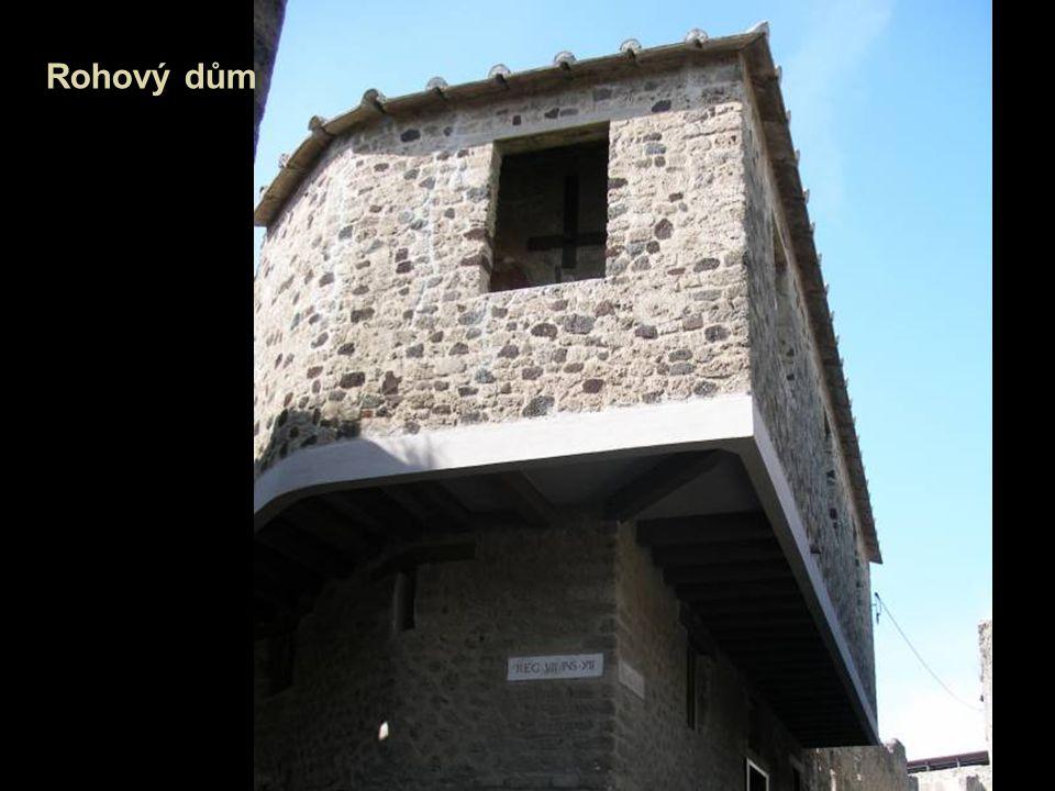 Bohatí Římané měli pohodlné domy, které byly stavěny podle plánů z kamene, cementu a dřeva.