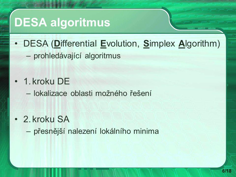 7/18 Princip DESA algoritmu