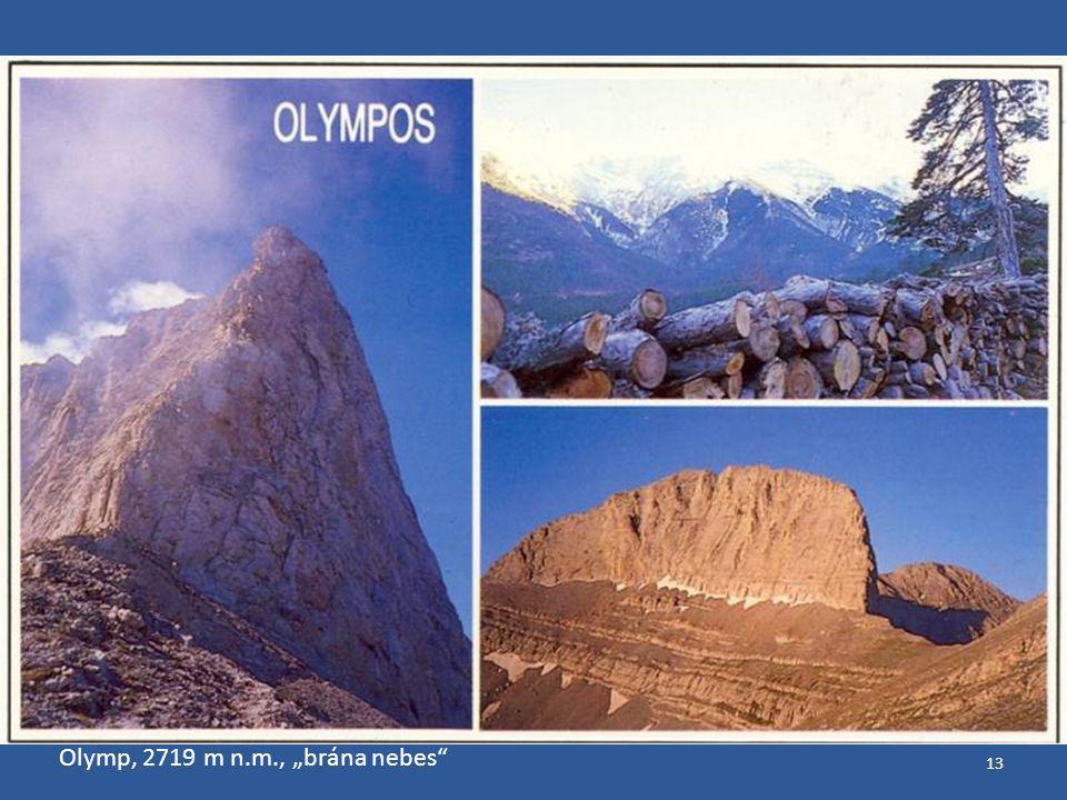 """13 Olymp, 2719 m n.m., """"brána nebes"""