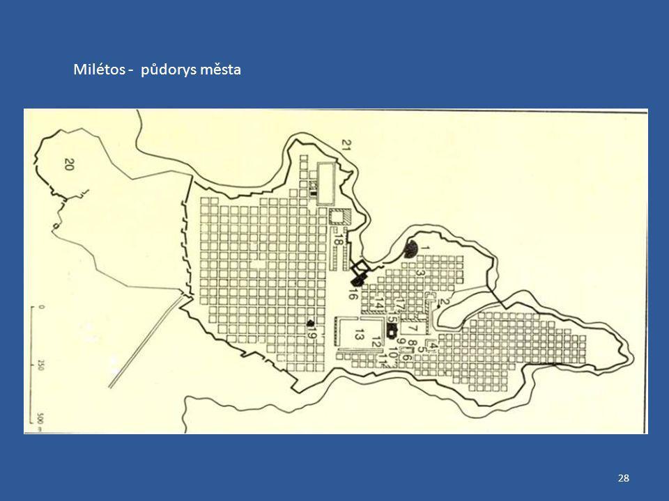28 Milétos - půdorys města