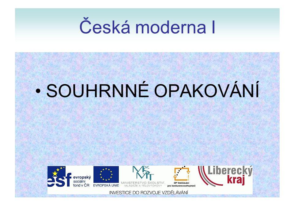 Moderní směry v českém umění na sklonku 19.