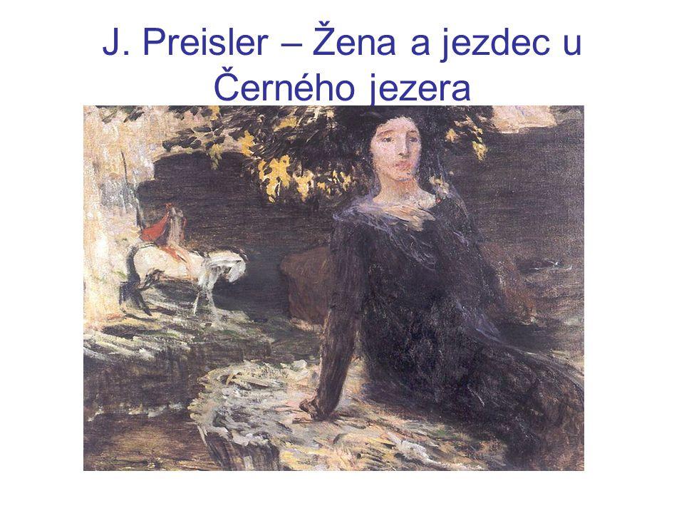 J. Preisler – Žena a jezdec u Černého jezera