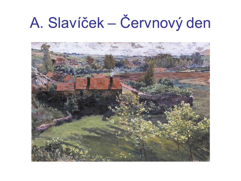 Karel Hlaváček (1874 – 1898) jeho básně jsou založeny na zvukových kvalitách – eufonie, melodičnost, motivy hudebních nástrojů také jsou často prostoupeny melancholií a pocity marnosti
