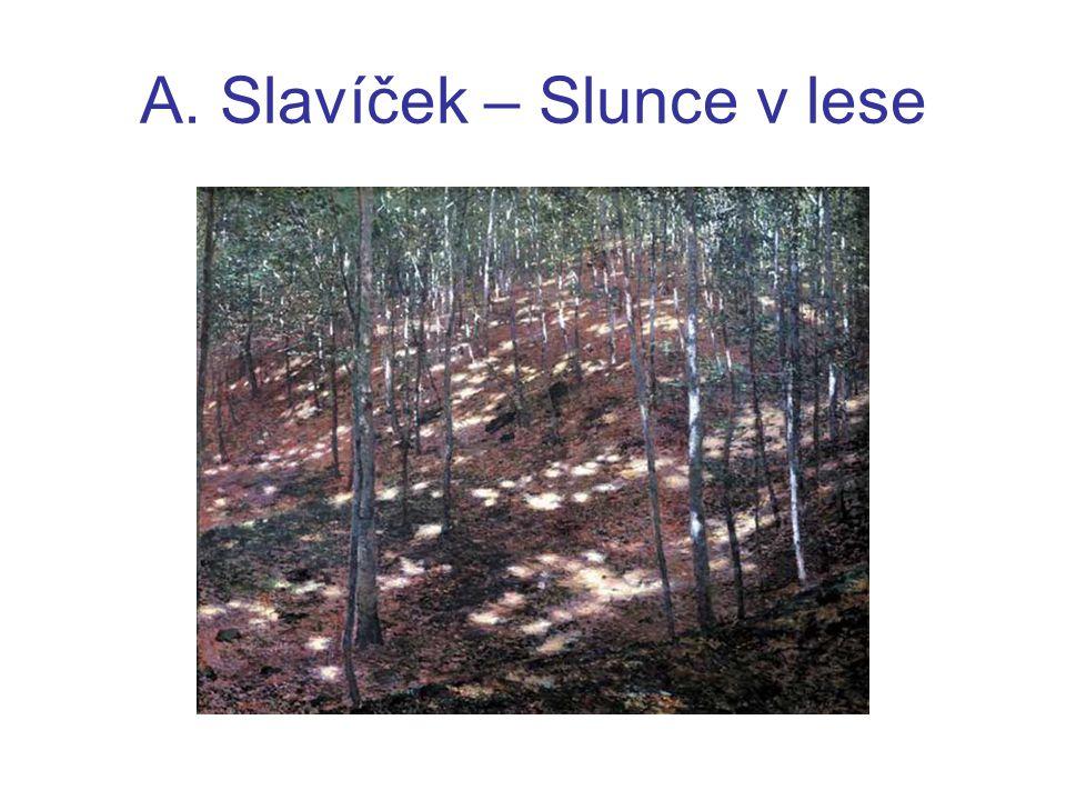 Fráňa Šrámek (1877 – 1952) -významný český spisovatel a básník -napsal impresionistický román: Stříbrný vítr - autor impresionistických her: Léto Měsíc nad řekou