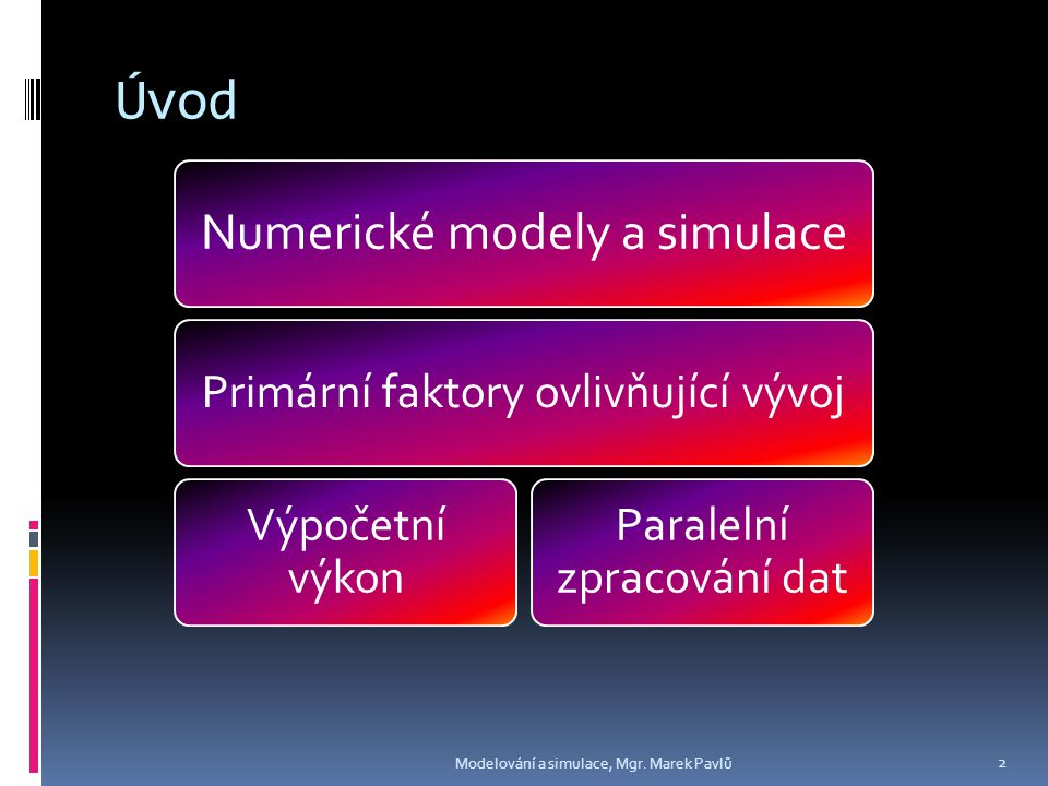Sequential vs.Parallel Computing Modelování a simulace, Mgr.