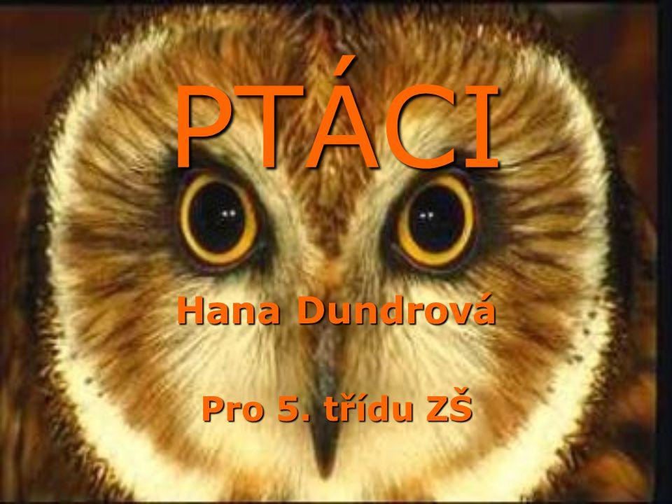 PTÁCI PTÁCI Hana Dundrová Pro 5. třídu ZŠ