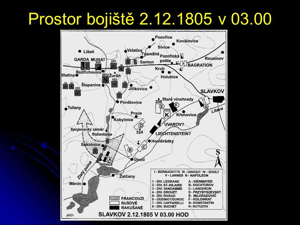 Prostor bojiště 2.12.1805 dopoledne
