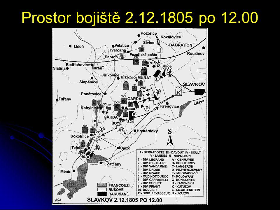 Prostor bojiště 2.12.1805 po 15.00