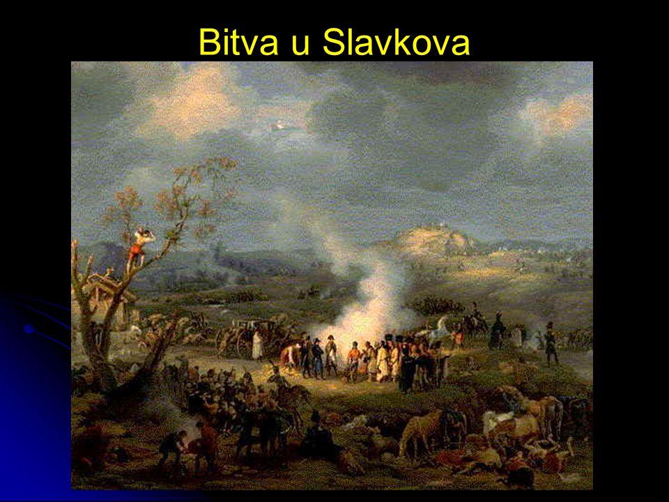 Příměří a mír Příměří bylo uzavřeno na zámku ve Slavkově Mír byl uzavřen v Zrcadlovém sále Primaciálního paláce v Bratislavě -> Bratislavský mír