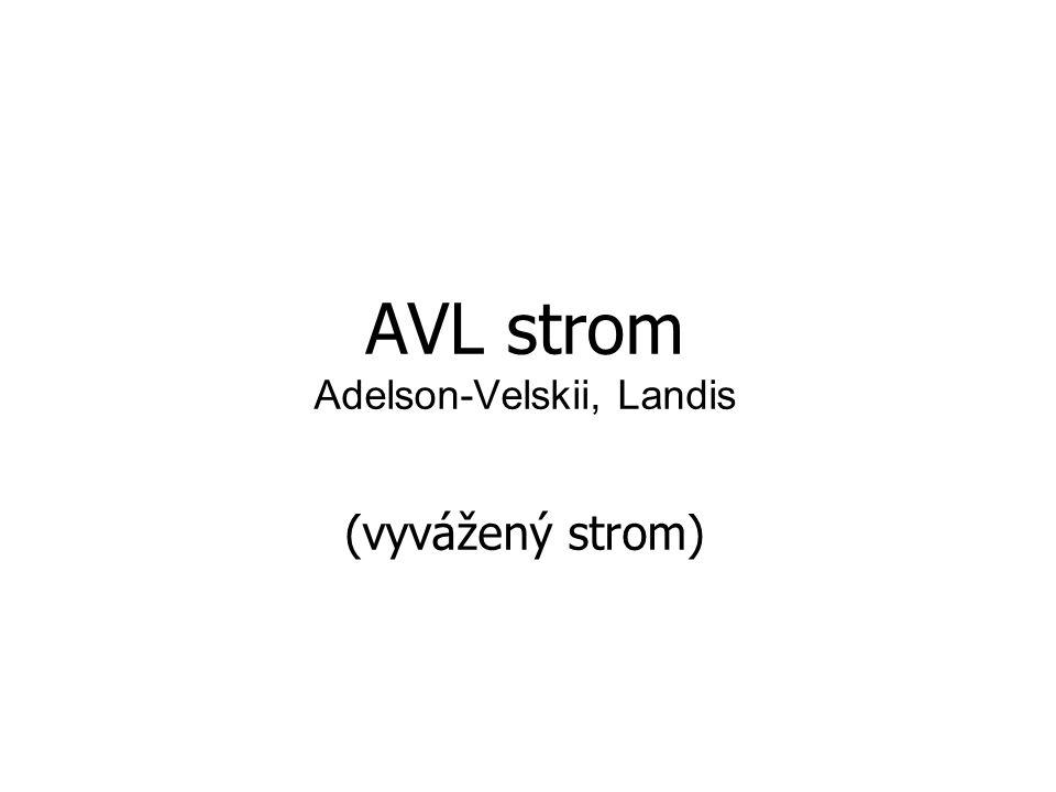 AVL strom Adelson-Velskii, Landis (vyvážený strom)