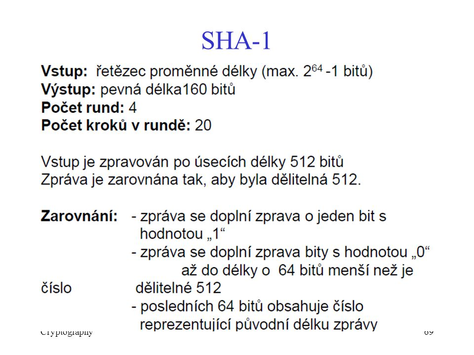 Cryptography69 SHA-1