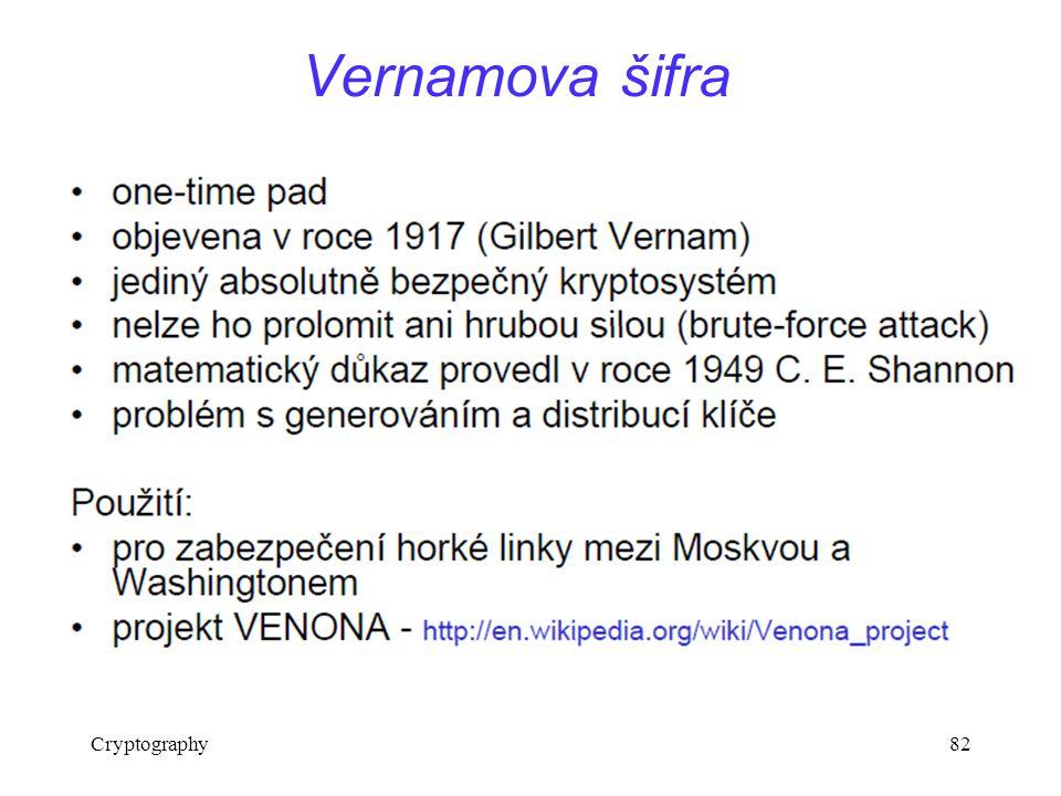 Cryptography82 Vernamova šifra